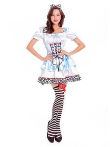 Image of Costume di Halloween Alice In Wonderland Donna Abiti e copricapi azzurri