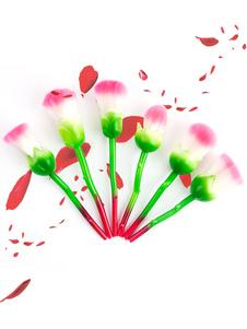 Cepillos del maquillaje de las mujeres Sistema de cepillo de la belleza de las formas de la microfibra de las flores en 6 pedazos