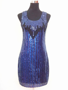 1920 vestido de Halloween del traje de la aleta Gatsby vestir vestidos de lentejuelas del brillo 2018
