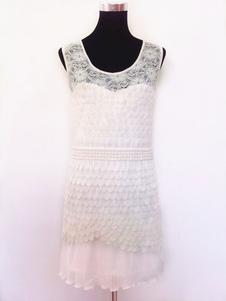 1920 vestido de traje Gatsby vestido 2018 de la aleta del vestido de la vendimia blanca