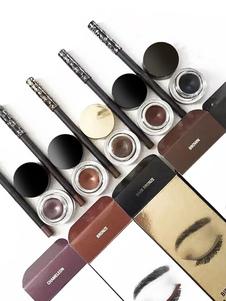 Eyeliner Makeup Set Crema delineador de ojos impermeable negro con pincel en 3 piezas