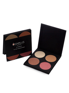 Mujeres Highlighter Powder Palette 4 colores Maquillaje resaltador