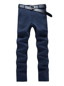 Image of Pantalone Casual Da Uomo 2019 In Cotone Blu Marino