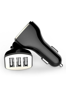 Cargador de coche USB 3 puertos Cargador de coche universal 2.0 de carga rápida 2.0
