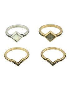 Image of Anello anello oro chic & moderno fuori in lega d'acciaio