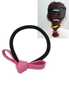Image of Accessorio capelli bicolore con nodi Cerchietto chic & moderno fuori fibra di poliestere
