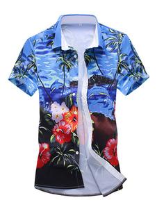 Image of Camicia Hawaii 2019 a maniche corte Camicia casual da uomo con