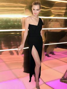 Image of Abito da sera nero Vestito da donna senza spalline Abito da sera senza spalline
