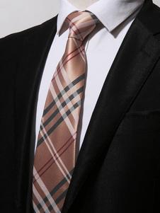 Image of Cravatta casual da uomo in poliestere cravatta a righe cravatta
