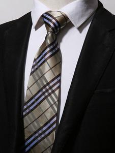 Image of Cravatta casual in microfibra scozzese a cravatta cravatta uomo