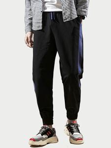 Image of Pantalone da jogging a pantalone in cotone stile lino da uomo