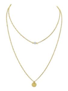 Image of Collana con pendente a catena con collana e pendente