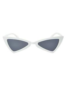 Image of Occhiali da sole bianchi da donna con occhiali da sole a montatu