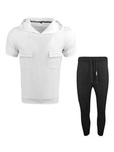 Image of Felpa con stampa t-shirt da uomo con cappuccio e stampa sportiva