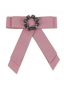 Image of Bow Tie Spille Pink Ribbon Costume Accessori Vintage British Wom