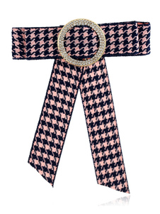 Image of Bow Tie Spilla Plaid Vintage British Collar Jewelry Donna Beaded Ribbon Costume Accessori