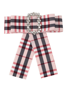 Image of Accessori per bigiotteria a fiocco di plaid per donna