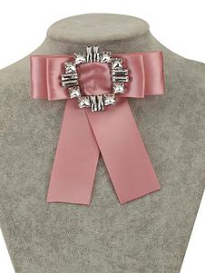 Image of Bow Tie Brooch Women Beaded Vintage Ribbon Collar Accessori per bigiotteria