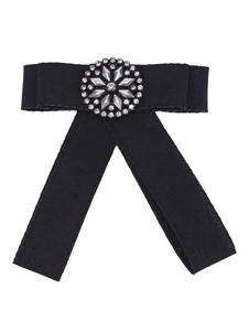 Image of Accessori per bigiotteria a forma di fiocco nero con spille nere