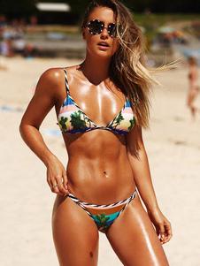 Image of Costume da bagno bikini sexy Bikini bikini con stampa a triangol
