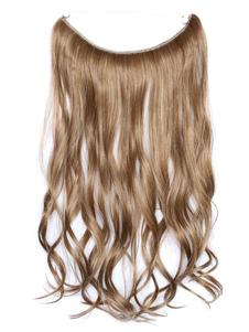 Image of Capelli sintetici ricci lunghi ricci delle estensioni dei capell