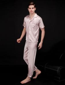 Image of Abbigliamento da salotto estivo da uomo manica corta in pigiama set 2 pezzi pigiama