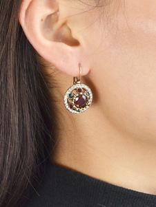 Image of Orecchini pendenti vintage con diamanti e strass