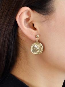 Image of Orecchini pendenti con orecchini pendenti con moneta d'oro