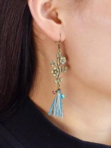 Image of Orecchini pendenti con perle e strass per le donne