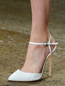 Image of Scarpe a tacchi alti da donna 2019 bianco Scarpe da sera a punta
