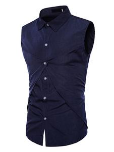 Image of Camicia Uomo Casual Camicia Sleeveless Slim Fit