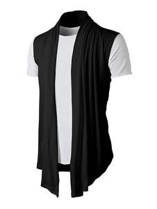 Image of Cardigan in cotone uomo con maniche lunghe in morbido cardigan d