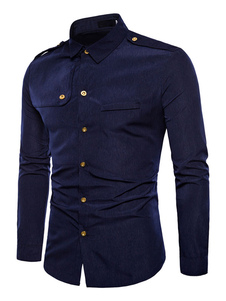 Image of Camicia casual da uomo 2020 Camicia uomo manica lunga casual sli
