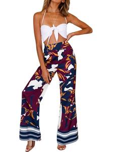 Image of        Pantaloni larghi delle donne Pantaloni larghi stampati etnici