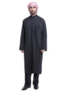 Image of Abito da uomo arabo con colletto a maniche lunghe\, abbottonatura a 2 pezzi