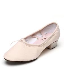 Zapatos de baile de mujer zapatos de baile de ballet cruzados de punta redonda