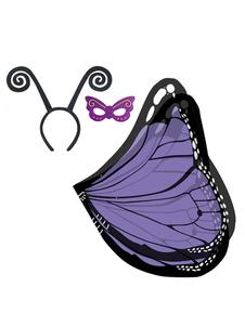 Image of Ali di farfalla Costume 2018 da capretto Monarca ali di farfalla Maschera fascia 3 pezzi Halloween