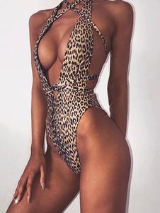 Image of Costume da bagno sexy da donna con scollo profondo Costume da ba