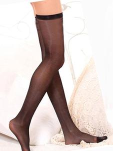 Image of Calze al ginocchio Saloon Girl Calze da donna Nero Halloween Costume Accessori