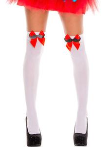 Image of Calze al ginocchio Saloon Girl Calze Archi Donna Costume di Halloween Accessori