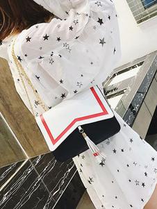 Image of Borsa a tracolla Lolita in stile marinaresco Borsa a tracolla in lolita PU Blakc metallizzata