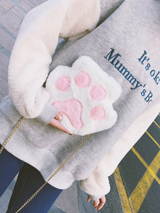Bolsa de cadena Lolita dulce Bolso de hombro Lolita de pata de oso de piel sintética