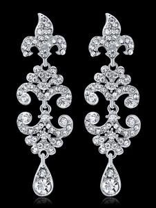 Image of Orecchini pendenti Orecchini pendenti in argento con strass