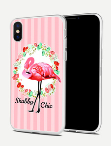Image of Pink Phone Cover Animal Stampa IPhone X IPhone 8 IPhone 7 Shatter Shield Parapolvere protettivo in TPU antiproiettile