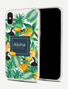 Image of TPU Phone Case Tropical Print Skid Resistant Shatter Shield Cover protettiva del telefono per iPhone X IPhone 8 IPhone 8 Plus