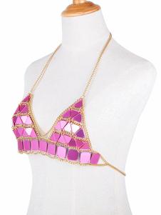 Bikini Body Chain Sexy Bralette Arnés Rose Declaración Body Jewelry