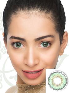 Lentes de contacto coloreadas Lentes de contacto anuales tricolores de color verde