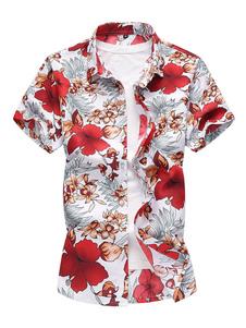 Image of Camicia uomo Beach Camicia stampa floreale Taglie forti Estate C