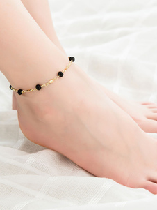 Image of Beach Ankle Bracelet Bead Chain Anklet Women Jewelry