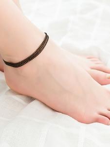 Image of Regalo dei monili della spiaggia del braccialetto della cavigliera a catena stratificata per lei